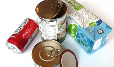 Hidden plastic, plastic coating in cans and juice boxes cartons